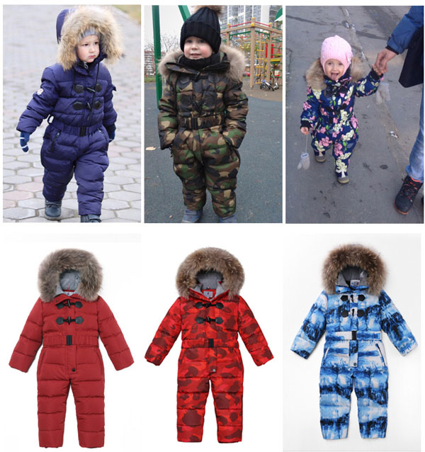 Winter down jumpsuits for children down jackets for boys and girls thick ski down jackets 2-8 years oldWinter down jumpsuits for children down jackets for boys and girls thick ski down jackets 2-8 years old