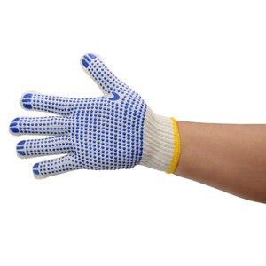 Image 2 - Labor 700 grams of plastic yarn gloves point glue glove cotton antiskid point bead gloves