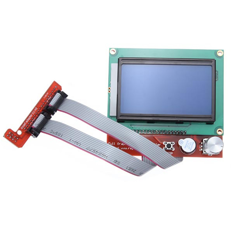 RAMPS 1.4 Controller Control Panel LCD 12864 Display Monitor Motherboard Blue Screen Module New 3D Printer Kit Smart Parts
