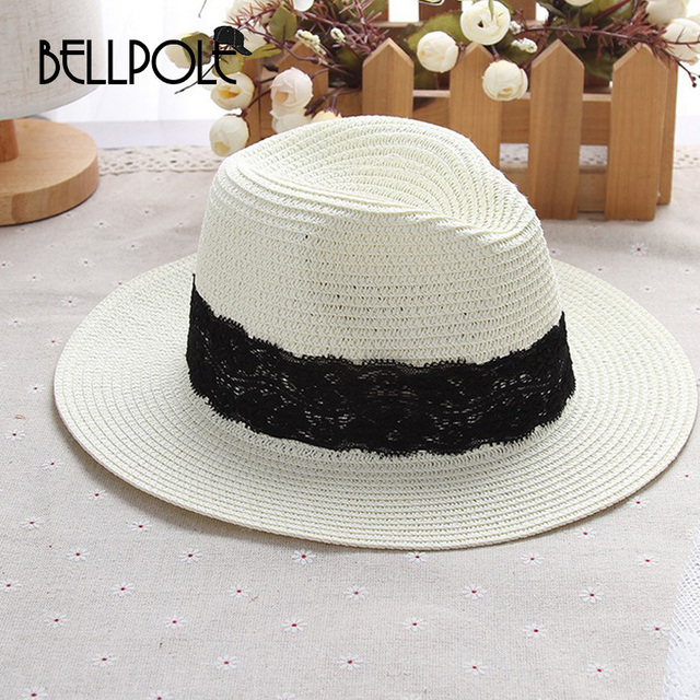 2fbb97a0868 Summer Women Sun Hat Ladies Wide Brim Straw Hats Outdoor Beach Panama Hats  Multicolor Optional Church Hat Bone Chapeu Feminino