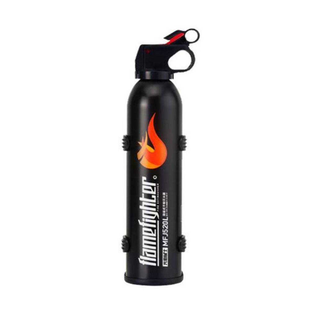 Black Mini Portable Car Fire Extinguisher with Hook Dry Chemical Fire Extinguisher Safety Flame Fighter for Home Office Car black mini portable car fire extinguisher with hook dry chemical fire extinguisher safety flame fighter for home office car