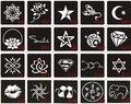 20 unids tatuaje de Henna Stencil y plantilla para pintura, aerógrafo aerógrafo tatuaje plantillas para tatuajes 6 X 6 CM y 10 X 6 CM