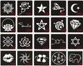 20pcs Henna Tattoo Stencil & template For Painting, Airbrush Tatoo Stencils For Tattoos 6X6CM & 10X6CM