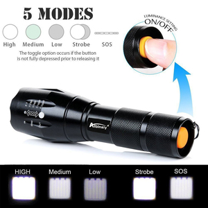 Image 3 - Super Bright LEDไฟฉายXP L V6 Beadกันน้ำLEDไฟฉายZoomable 5โหมดCamping Light 18650