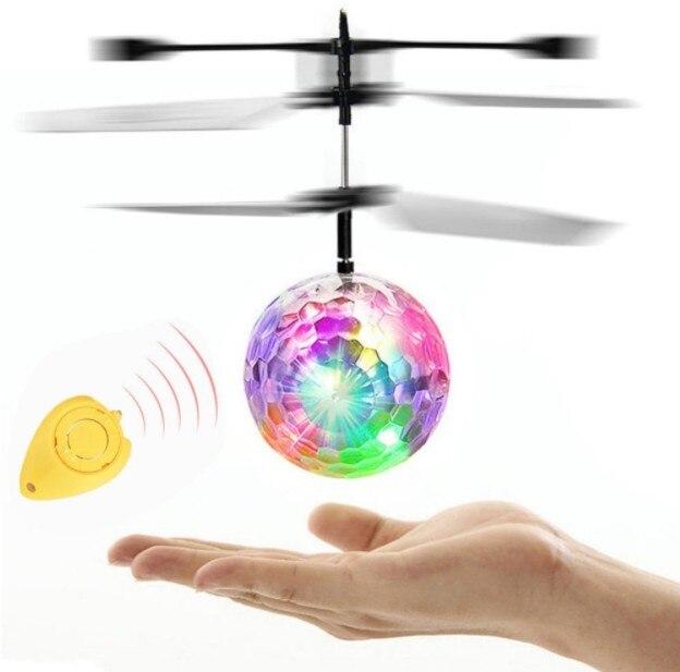 צבעוני RC מעופף כדור זוהר ילד של טיסה כדורי אינפרא אדום אינדוקציה מטוסי שלט רחוק צעצועי LED אור מיני מסוק