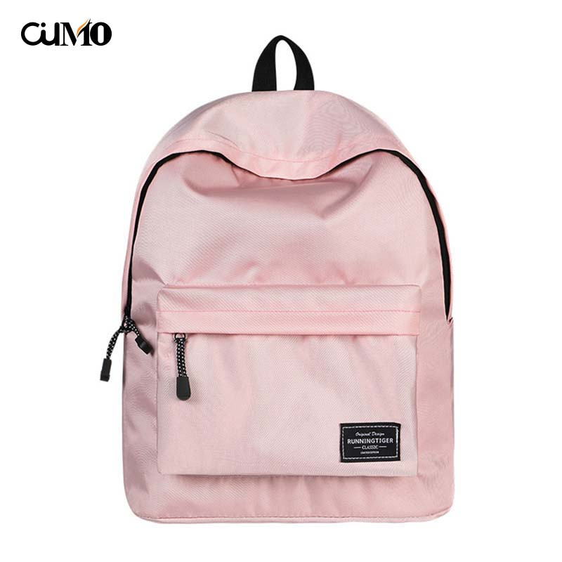 Ou Mo brand Solid High capacity Boys Girls child Schoolbag laptop computer anti theft backpack feminina backpack Women Bag man in Backpacks from Luggage Bags