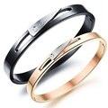 Silver-Jewelry Bracelet for Women Men Bangles Pulseiras Titanium Lover Bracelets Indian Jewelry Bracelet Bangle D0127