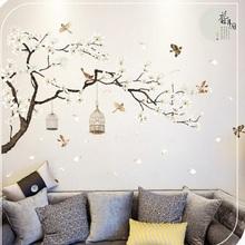 Flower Tree Wall Stickers Birds Home Decor Wallpapers For Living Room Bedroom DIY Decoration Supplies