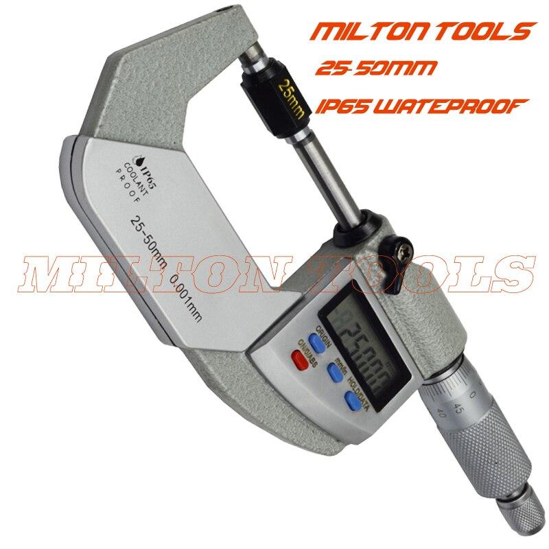 SHAHE 50-75mm 0.01mm Outside Micrometer Micrometro Gauge Hardened Alloy