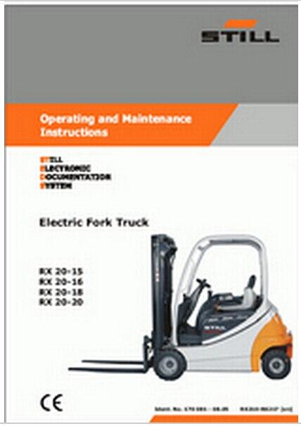 STILL STEDS Forklifts 8.15 STILL Forklifts Spare parts Catalog, Service Information 08 2015