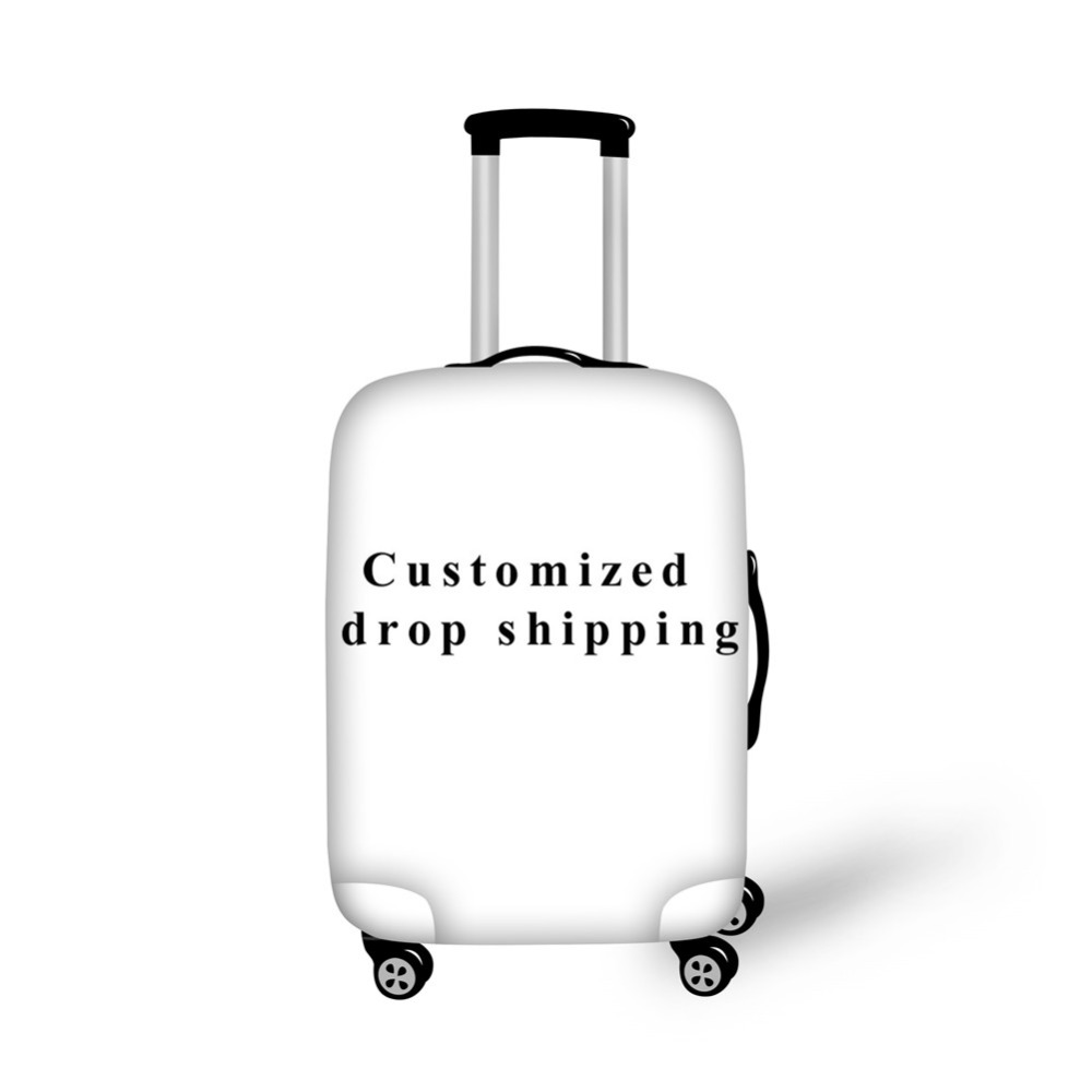 ELVISWORDS Exclusive Customized Luggage Covers For Travel Elastic Logo Photo Customize Suitcase Bags Case For  18-30 Inch Trunk