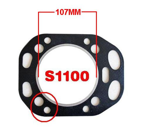 Free Shipping Diesel engine S1100 107MM Circular Direct injection cylinder head Gasket Changchai Changfa Jiangdong and