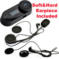Frete Grátis! TCOM-SC FM 1Km Capacete Da Motocicleta Bluetooth Intercom W/Tela + Soft & Hard Fone de Ouvido