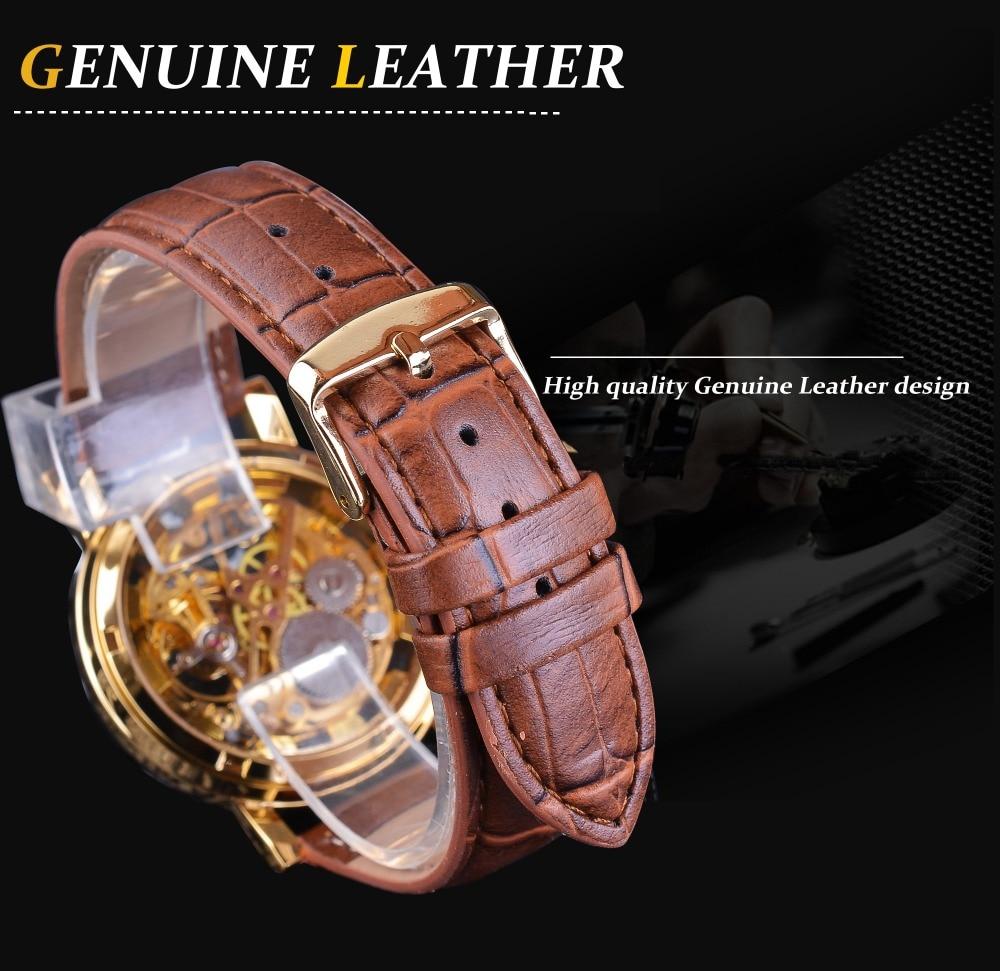 HTB1EMjWi4naK1RjSZFtq6zC2VXac Winner Transparent Golden Case Luxury Casual Design Brown Leather Strap Mens Watches Top Brand Luxury Mechanical Skeleton Watch