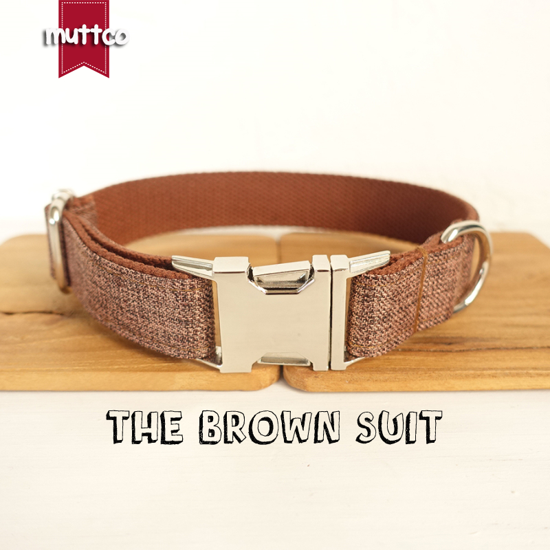 10pcs/lot MUTTCO wholesale self-design handmade high quality dog collar like gentleman T ...