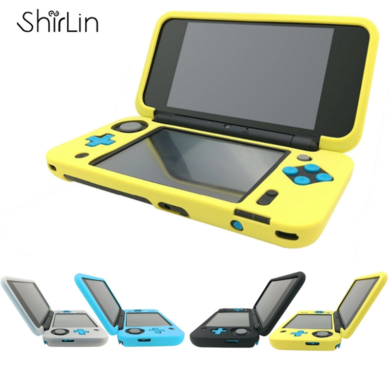 Durable Soft Silicone Case Cover For New 2DS LL Protective Cover Skin Silicone Gel Rubber Sleeve Case For Nintendo New 2DS LL/XL