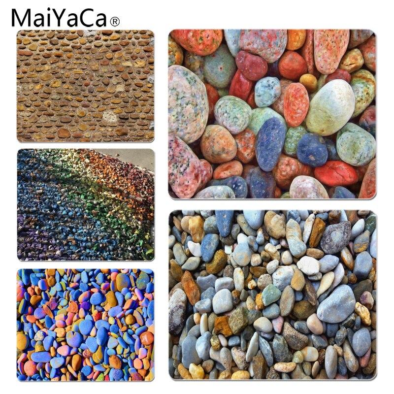 MaiYaCa Нескользящие PC Красочные галька коврик для мыши геймер играть коврики Размеры для 18x22 см 25x29 см резиновая Мышь коврики