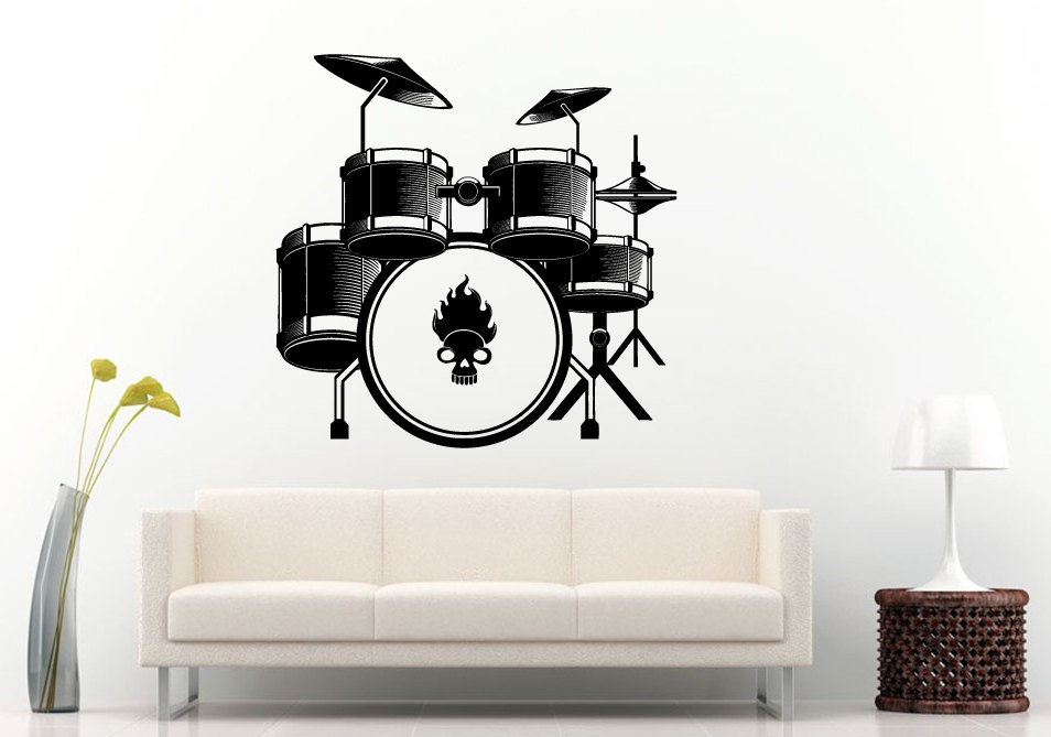 Drum Set Wall Decor : Popular drum decals buy cheap lots from china