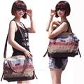 2017 New casual Big Retro canvas bag PU handbags fashion clutche party purse women shoulder messenger Iphone Brown shopping bags