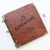 Our Adventure Book Photo Album, Leather Scrapbook Album, Personalized Guest Book ,Instagram Photo Album