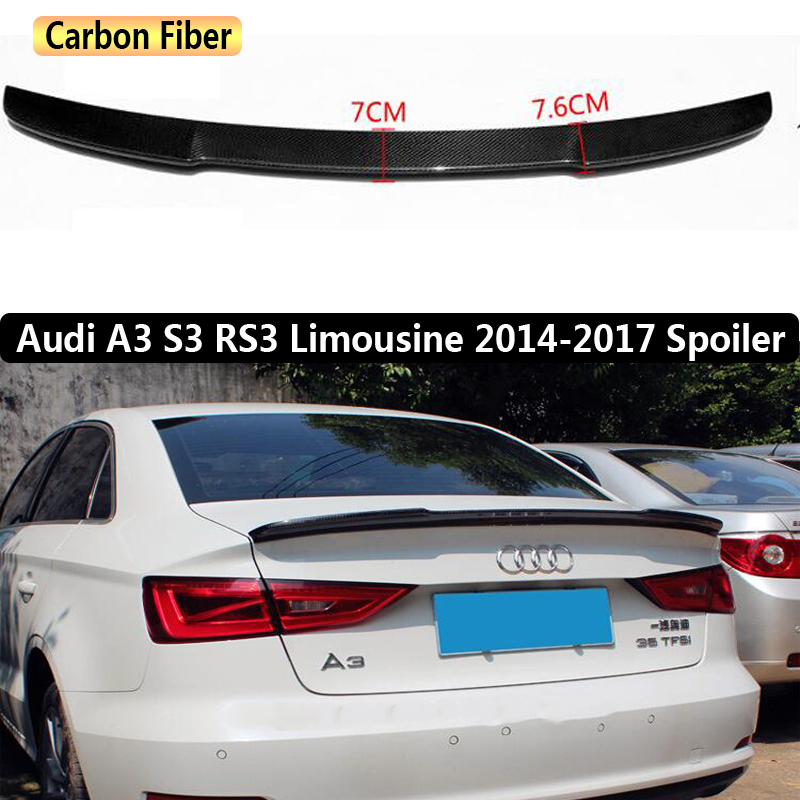 for audi a3 s3 rs3 limousine 2014 2017 rear wing spoiler. Black Bedroom Furniture Sets. Home Design Ideas