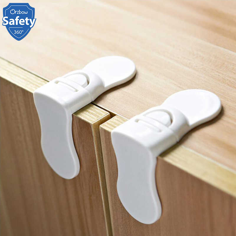 4pcs Baby Safety Cabinet Locks Children Proofing Door Drawers Furniture Protection Baby Security Lock Kids Safety Products