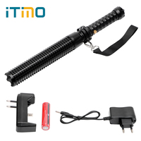 ITimo Tactical Flashlight Portable Lighting Baseball Bat Multifunctional Self Defense Torch Length Adjustable Emergency Lamp