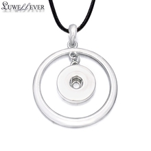 Hot Sale Fashion Interchangeable Round Crystal Ginger Necklace 197 Fit 18mm Snap Button Pendant Charm Jewelry For Women Gift