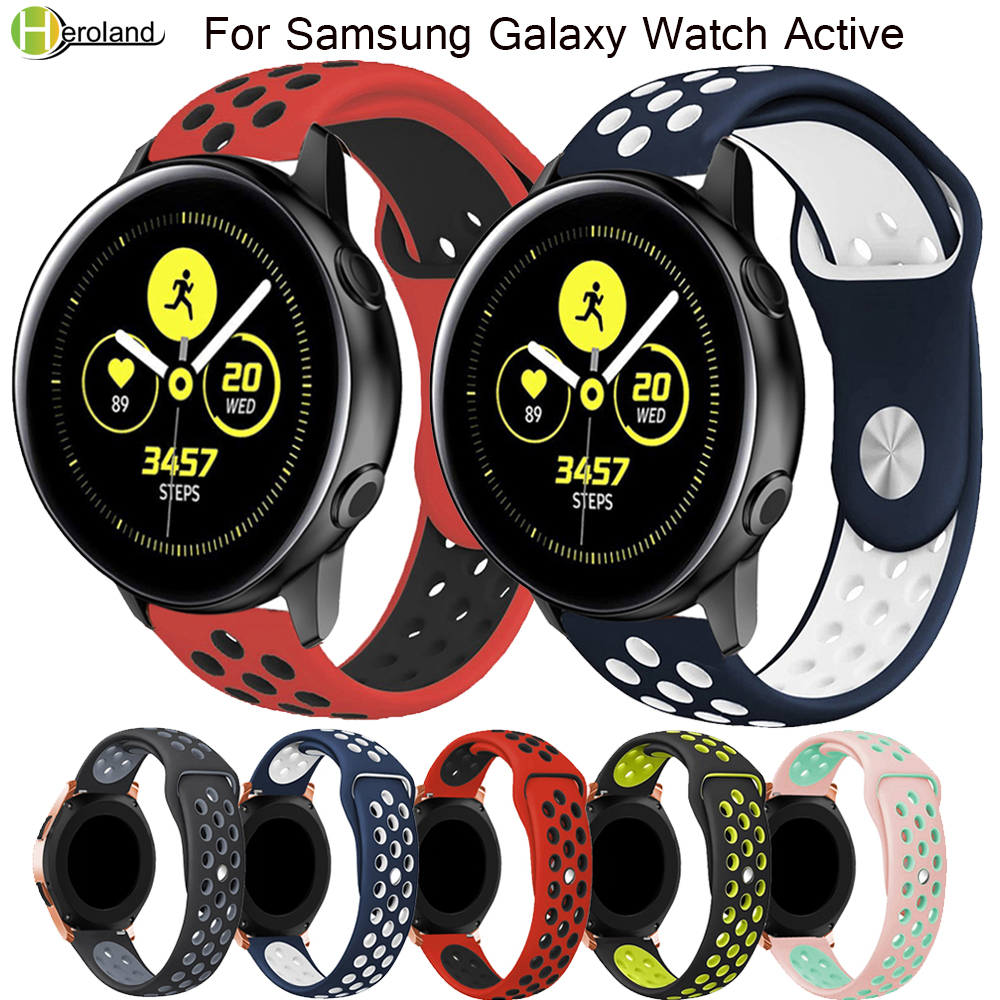 20mm Watch Strap Band Silicone For Samsung Galaxy Watch Active /gear S2/s4 Replacement Watch Men Women's Bracelet Watches Strap