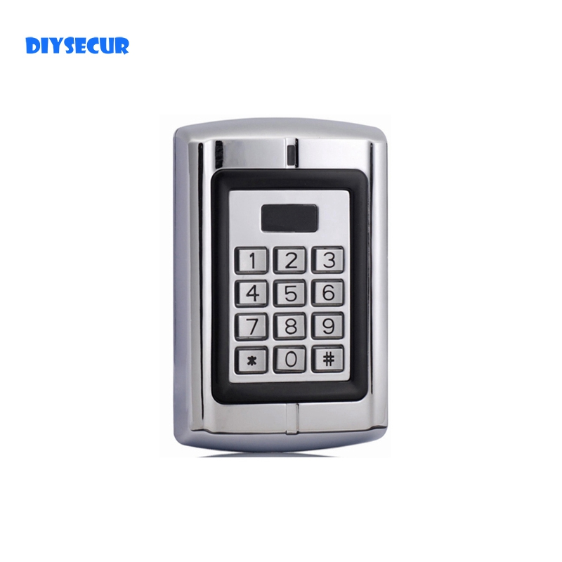 DIYSECUR Door Access Control RFID ID Card Reader Metal Case Security + 10 Free Keyfobs for House Office security access controls access control security case - title=