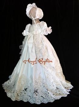 af6e8047a Vestido de encaje para bebé con cuentas brillantes vestido de bautizo de  lujo para niña recién nacida vestido de Bautismo con perlas completas