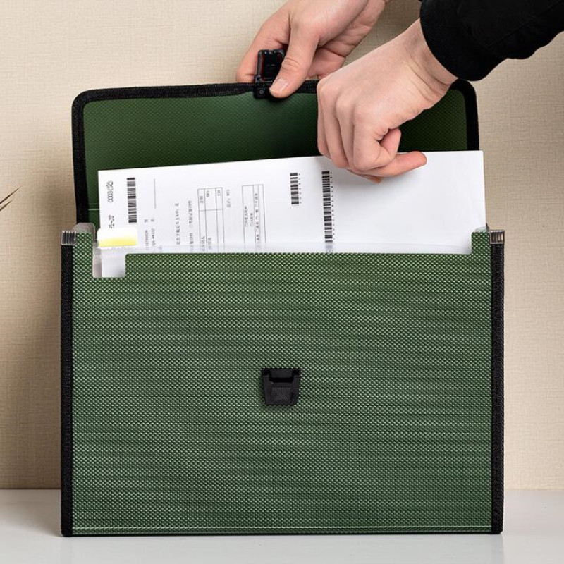 New Multi-layer Cloth Art Portable Organ Package Student Paper Folder Information Buckle A4 Filing Storage 13 Into Document Bag