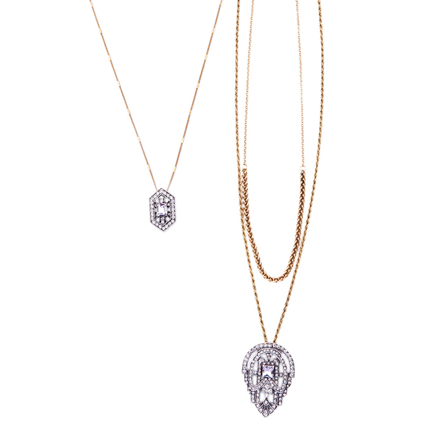 New layered necklace geometric crystal pendants necklaces summer new layered necklace geometric crystal pendants necklaces summer dress jewelry online shopping india aloadofball Gallery