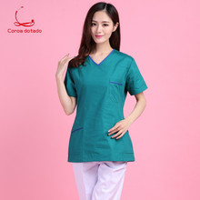 New pure cotton hand-washing clothes shabu hand wear summer short sleeve pet hospital work