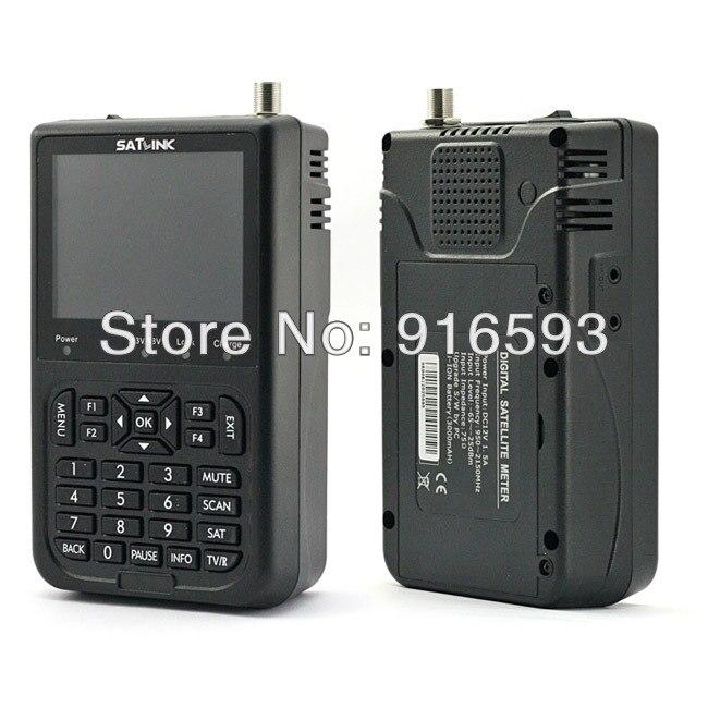 5pcs/ Lot SATLINK WS 6906 DVB S FTA digital satellite signal finder meter Live FTA Digital Picture and Sound WS 6906
