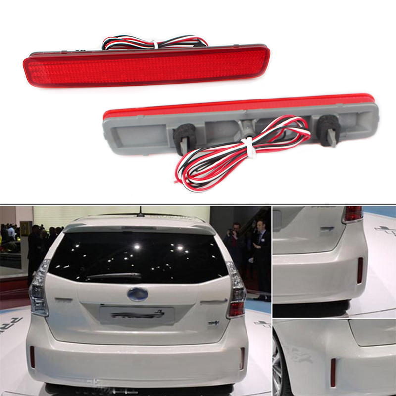 MZORANGE LED Rear Bumper Reflector <font><b>Tail</b></font> Brake Light For TOYOTA NOAH VOXY 80 and Pruis 40 series 2011-15