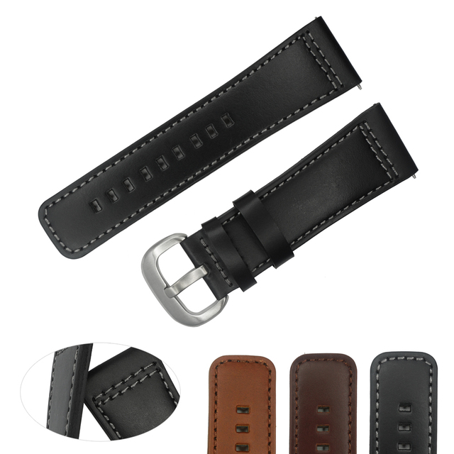 739a73b1ca2 28mm Italy Oily Genuine Leather Watch Strap Brown Black Watch Band Watchband  For Mens Watches Seven Friday