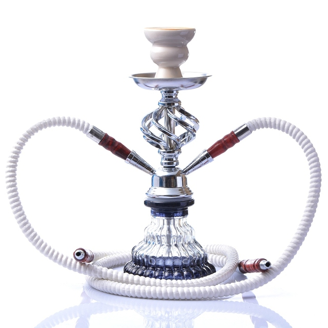 Glass Hookah Set Portable Shisha Pipe with Double Hoses Ceramic Tobacco Flavors Bowl Charcoal Tongs Chicha Narguile Accessories 1