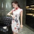 Fashion Short Sleeve Long Dress Qipao Dresses Vintage Chinese Style Cheongsam Garments Chinese Dress size S M L XL XXL