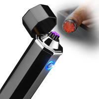 Double Pulse Arc Cigarette Lighter Tobacco Pipe USB Lighters Cigar Torch Lighter Windproof Flameless Electric Lighters