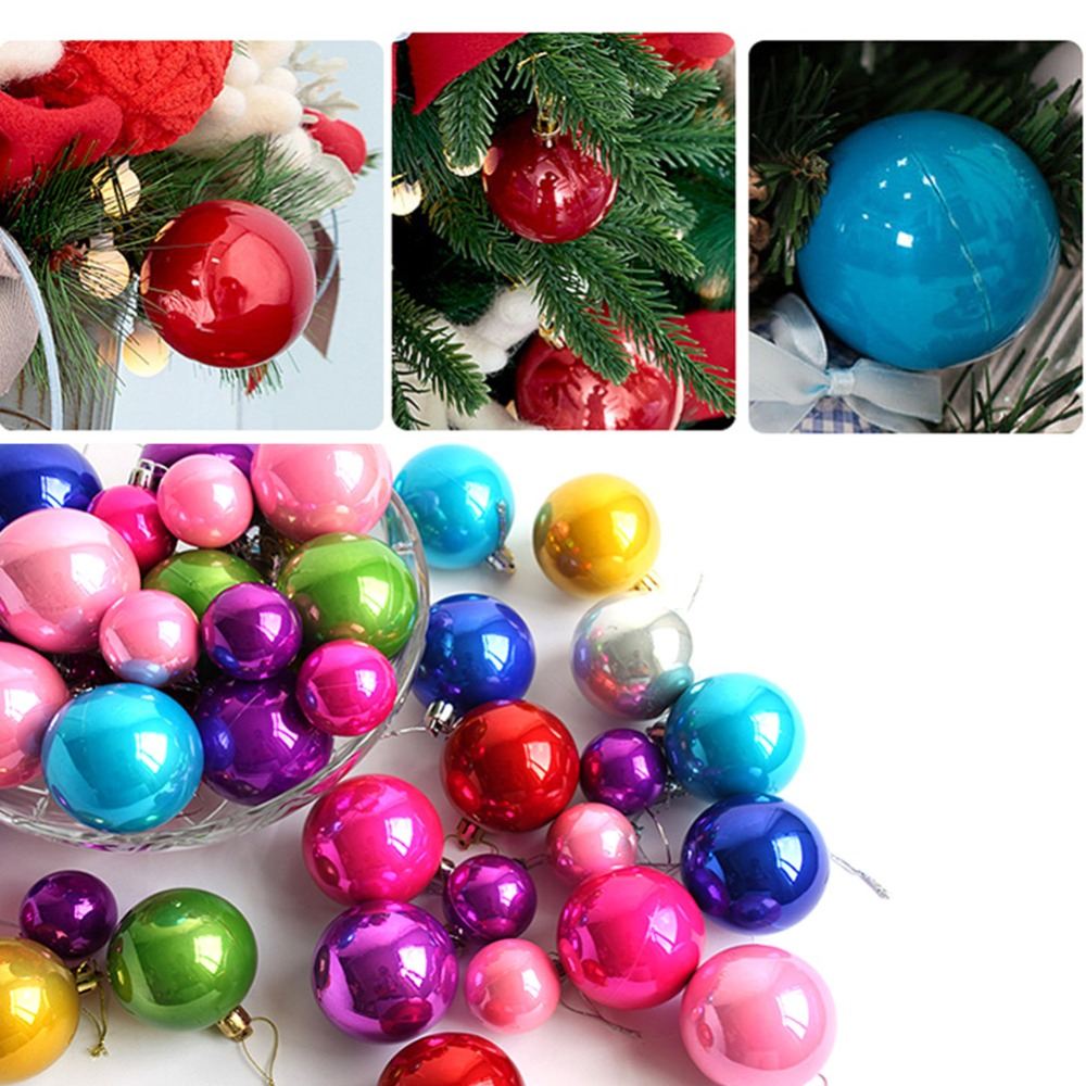 12PCS 4CM Colourful Balls Baubles Christmas Tree Xmas Party Decorations home Supply