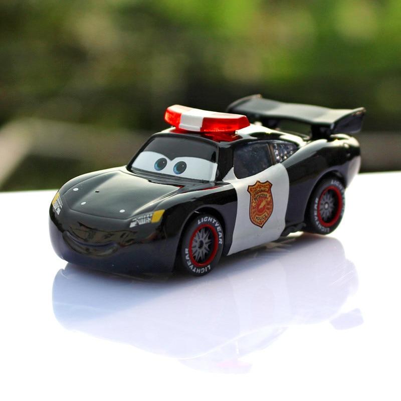 Cartoon Movie Pixar Cars Black Police Maikun Diecast Metal