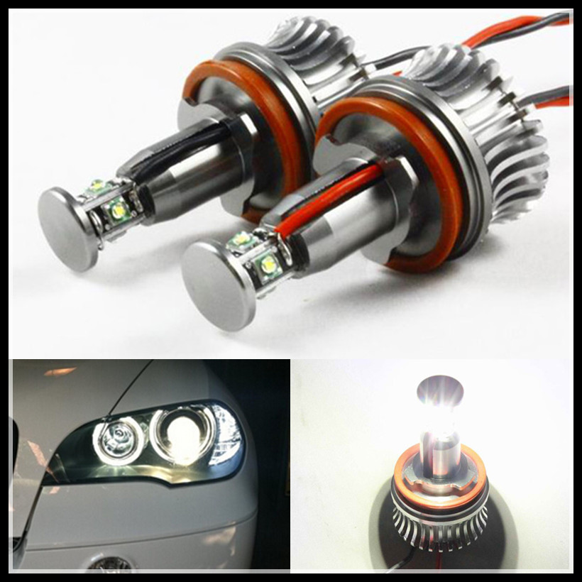 Rockeybright h8 40w led angel eyes bulb halo ring led marker lights for bmw e60 e61 e90 e82 e87 f01 f02 e70 e71 led angel eyes
