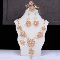 Роскошные благородные оригинальные Брендовые женские Свадебные Обручальное ожерелье кольцо браслет серьги ювелирный набор кубический ци