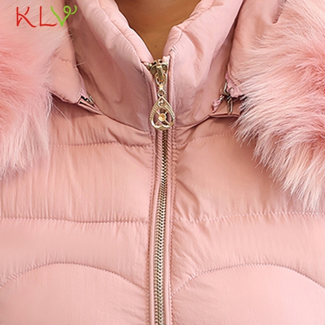 Women Jacket Winter Hooded Thick Fur Cotton Parka Long 2018 Plus Size Ladies Chamarra Cazadora Mujer Coat For Girls 18Oct24 5