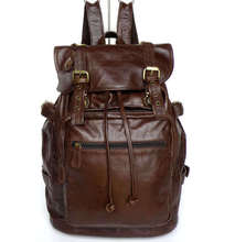 Maxdo High Quality Vintage 100% Guarantee Real Genuine Leather Cowhide Unisex Women Men Backpacks Travel Bags #M6085