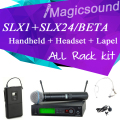 UHF Professional Wireless Microphone System SLX1 /SLX24/ BETA58 Handheld + Lapel + Headset Vocal Mic Complete Set for Stage DJ