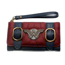 rfid wallet women small leather  andDC Comics Wonder Woman Front Flap Womens Wallet PU Trifold long