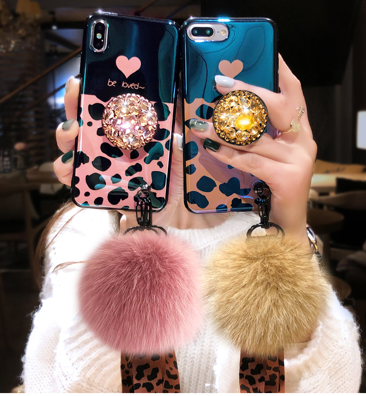 Para o iphone xs max capa de leopardo da folha de ouro para o iphone xs x 8 plus 7 6 s mais bling caso macio para iphone 8 plus xr + 3d titular bola
