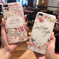 New Flower pattern covers for iPhone 6 6s 6plus 6splus for iPhone 7 7plus soft cases Transparent for women for girl Anti-drop
